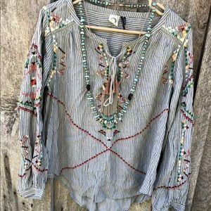 Anthropologie Akemi Kin 6 peasant boho tunic top